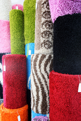 Carpets in shop
